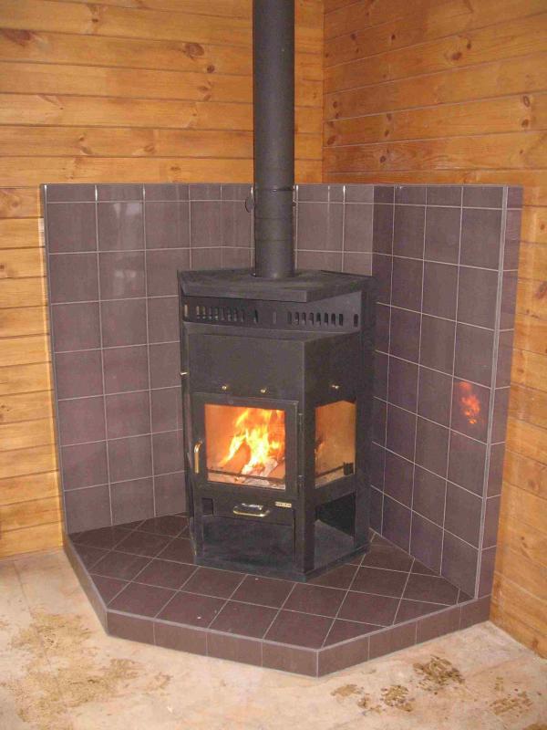 Металлическая печка для дома