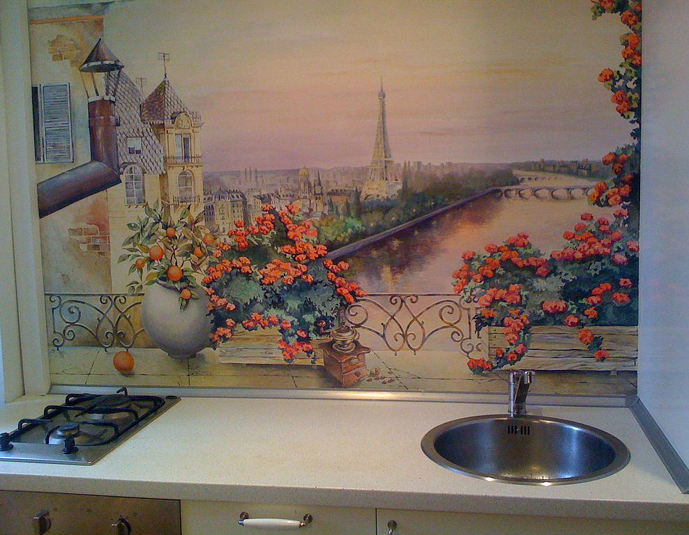 Рисунок на стену в кухню