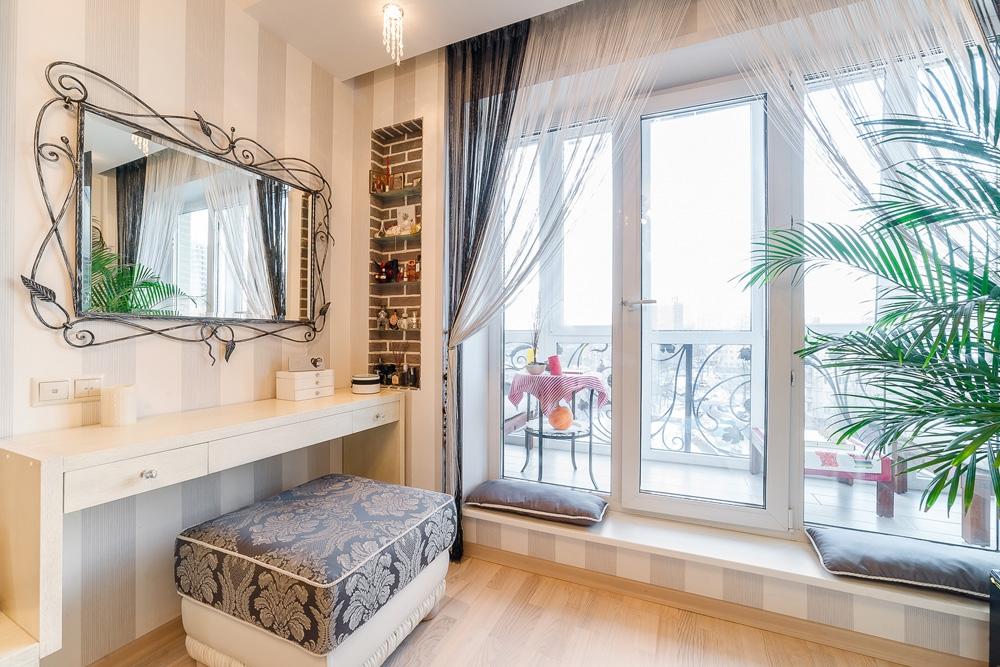 Французские окна в пол фото