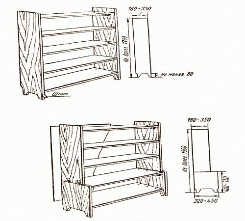 Книжный шкаф своими руками чертежи