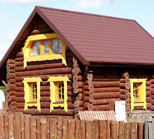 Деревянные дома с бревна лафетом