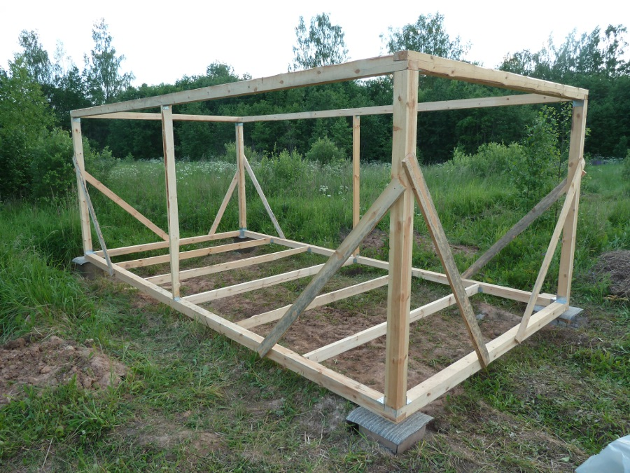 Как построить сарай простой