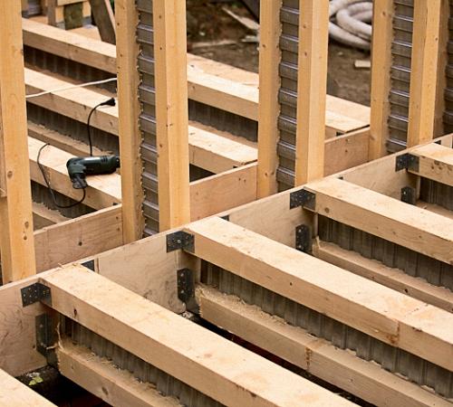 Балки перекрытия деревянные своими руками