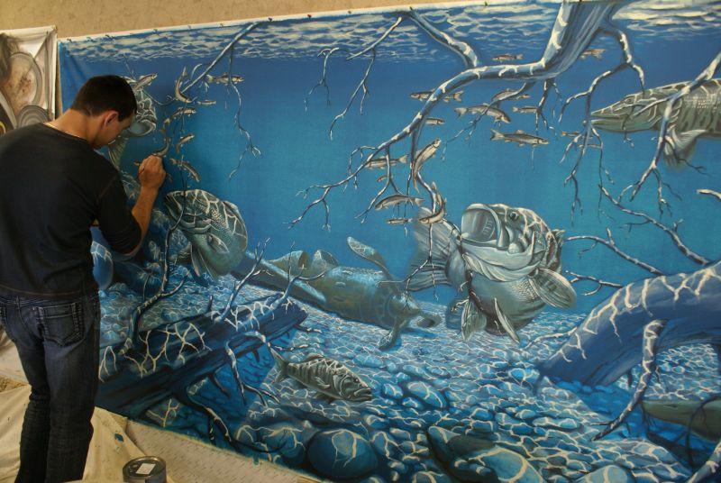 техника живописи акриловыми красками: