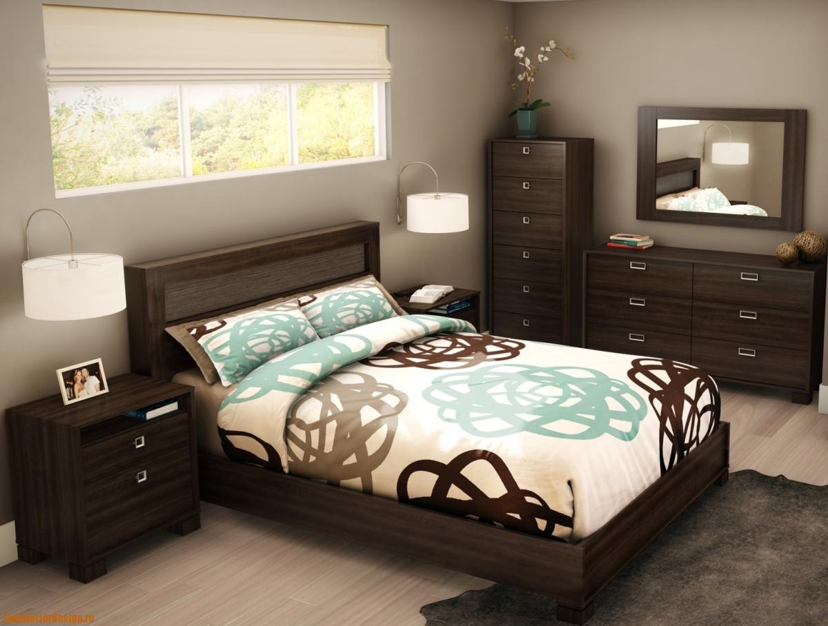 Квадратной спальни фото примеры