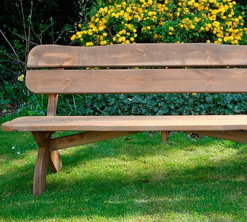 Красивая скамейка из дерева своими руками 31