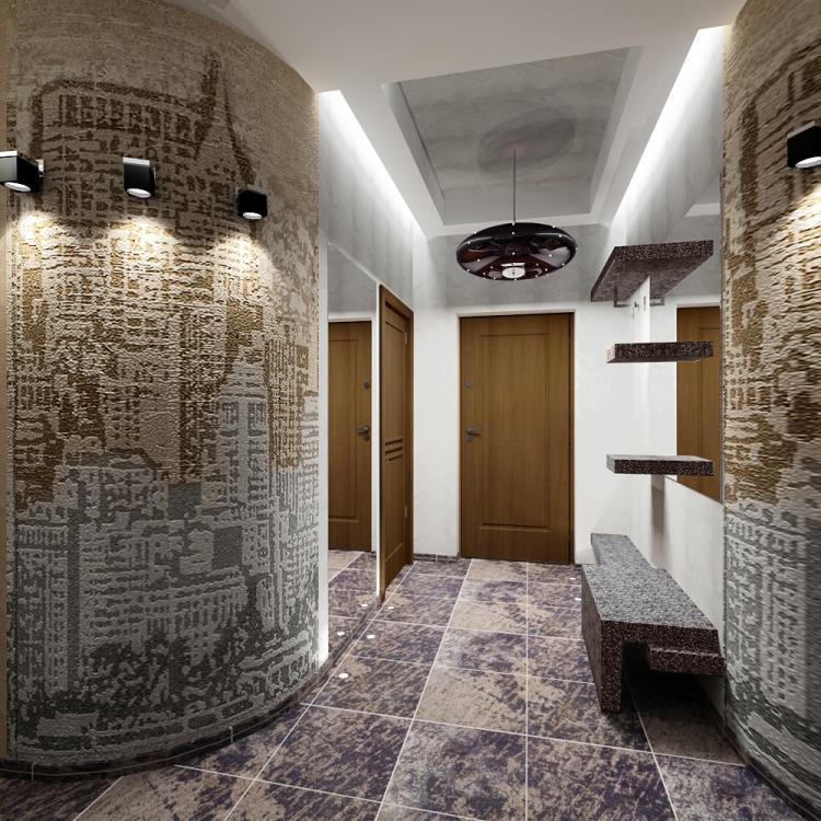далеко Оформление стены в коридоре квартиры замечтался