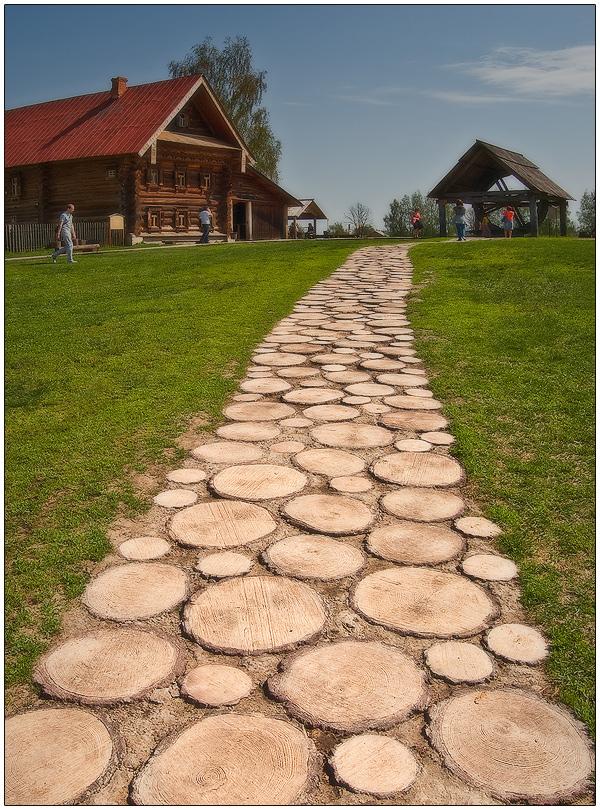Тротуары из дерева своими руками