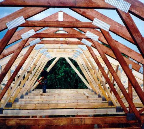 Стропильная система мансардной крыши чертежи