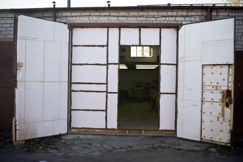 Утепление гаража своими руками фото