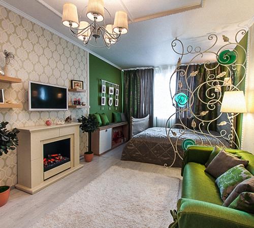 Дизайн комнаты с зонированием
