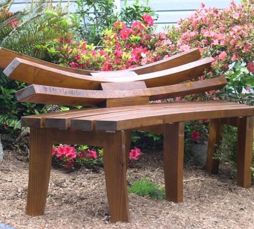 Красивая скамейка своими руками