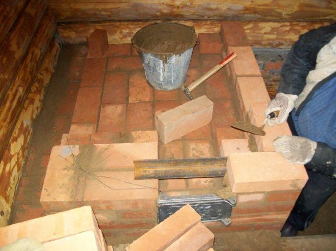 Строим печь в бане своими руками 18
