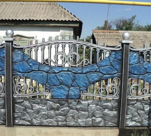 Краска для бетонных заборов своими руками