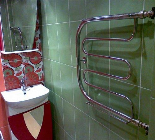полотенцесушители водяные в ванной фото