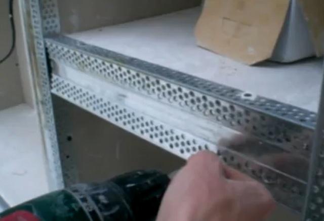 Как сделать стеллаж из металлопрофиля