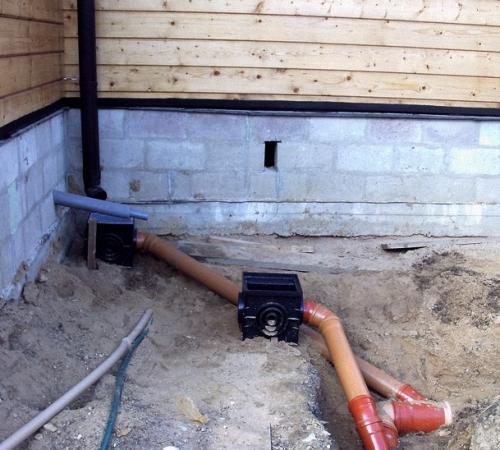 Установка ливневой канализации