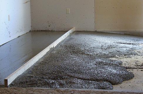 Цементно-песчаных полы своими руками