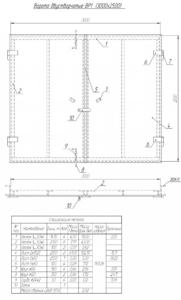Раздвижные ворота для гаража своими руками чертежи