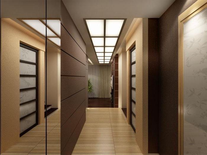 Какие выбрать обои для узкого длинного коридора 7
