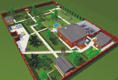 Фото дворов частного дома своими руками