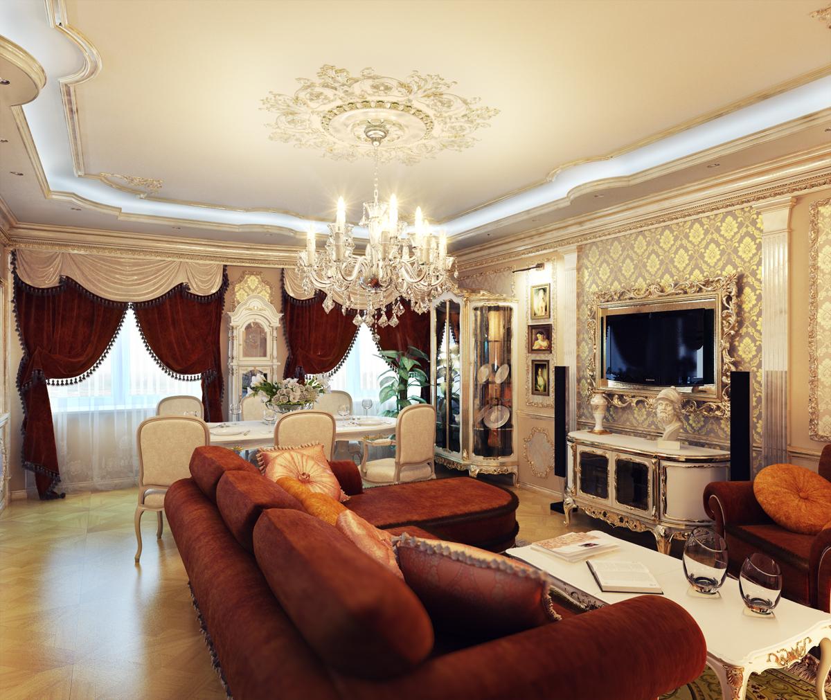 Home Design Classic Ideas: Как оформить гостиную комнату