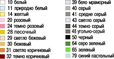 Разнообразие оттенков затирки