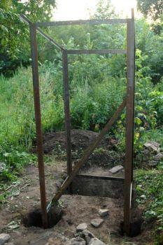 Каркас туалета из стального уголка