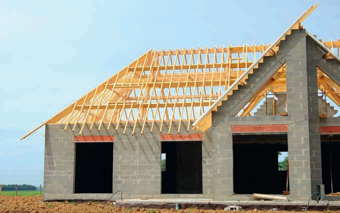 Крыша домов из газобетона