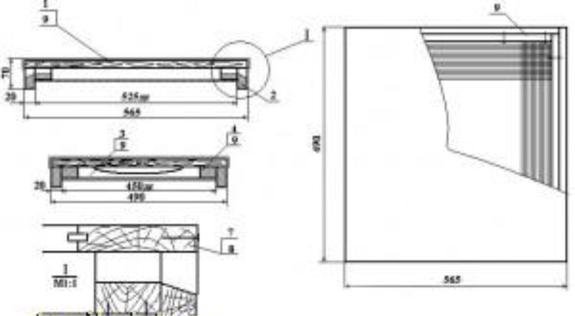 В стандартной крыше улья