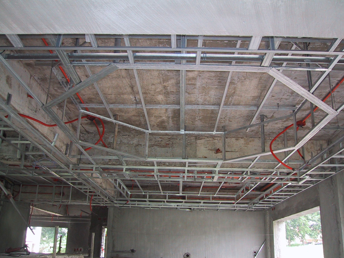 Isolation plafond placo images for Faux plafond demontable