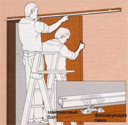 Навешивание дверного полотна раздвижной двери