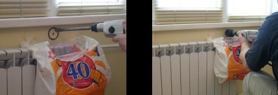Монтаж приточного клапана - отверстие в стене под клапан