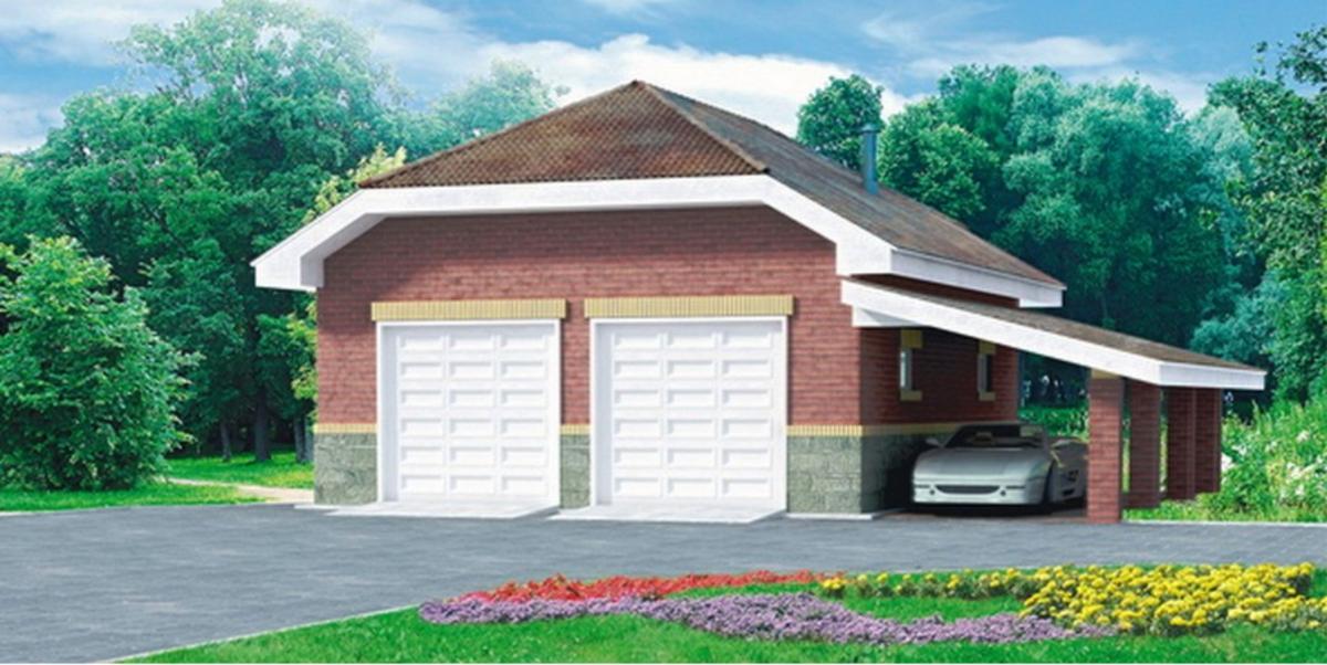 Красивый гараж на 2 машины