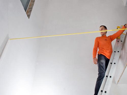Разметка для установки модульной лестницы