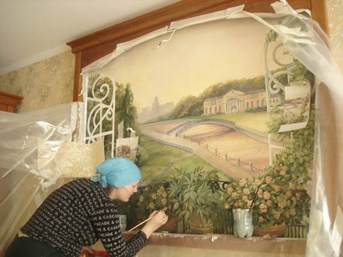 Граффити на стене своими руками