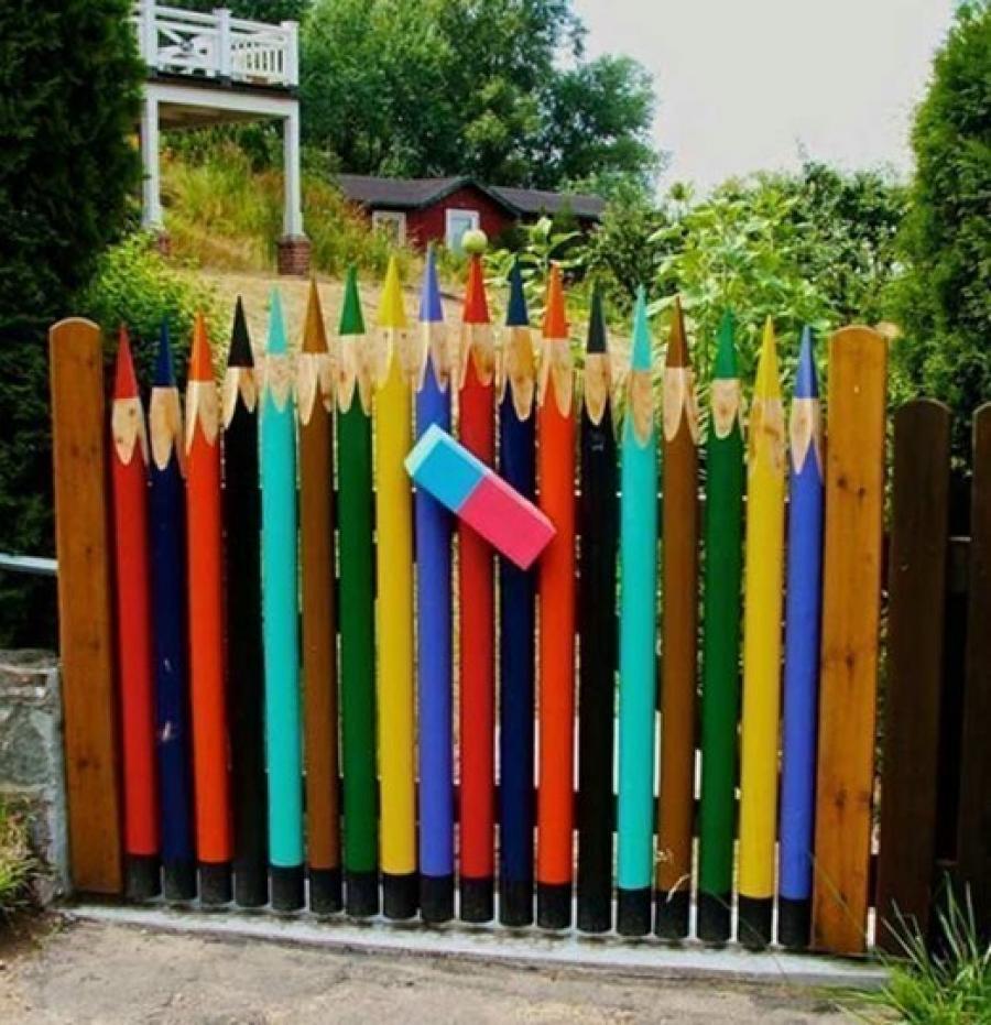 Как красиво сделать забор на даче