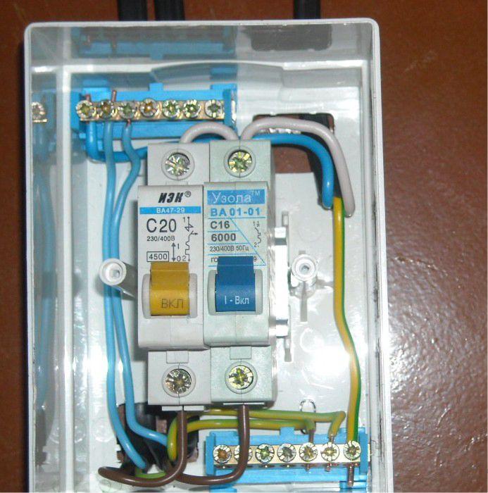 Подключение проводки и