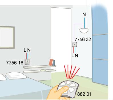Дистанционное управление освещением с помощью пульта ДУ