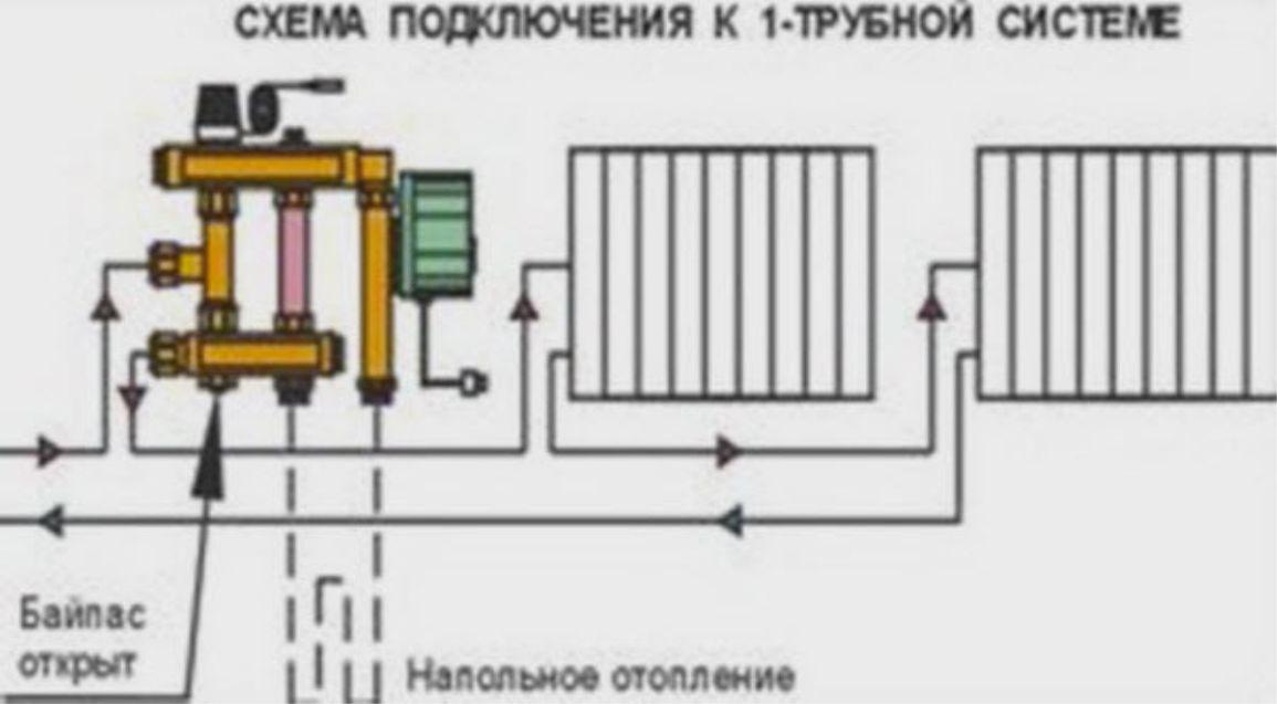 Схема установки смесительных