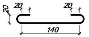 Соединитель верхней и нижней сеток армирования монолитной плиты перекрытия