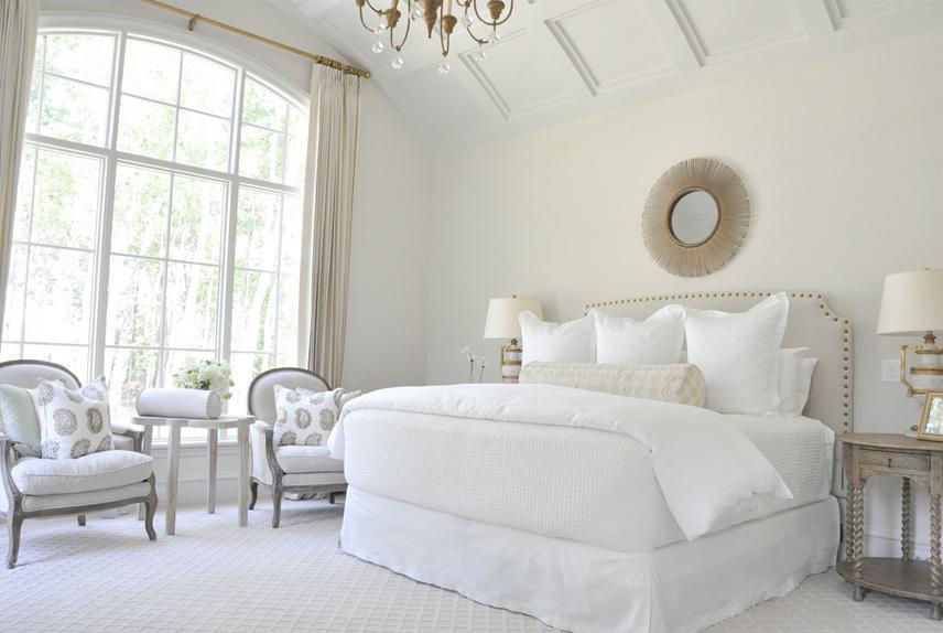 спальня белого цвета фото