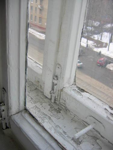 Старая рама окна