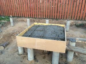 Плитный фундамент на столбчатой опоре