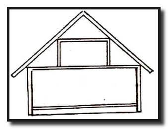 Двухскатная крыша для одноуровневой мансарды