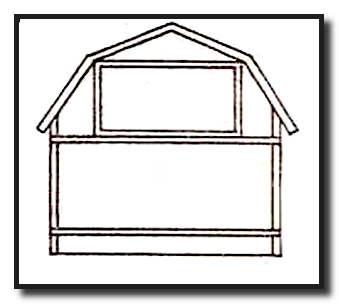 Ломаная двухскатная крыша для одноуровневой мансарды