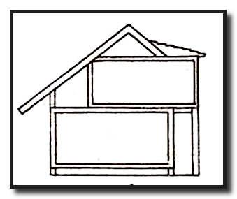 Одноуровневая мансардная крыша с выносными консолями