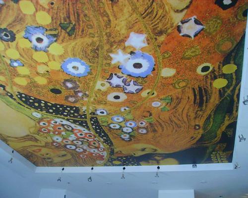 Тканевый натяжной потолок 7