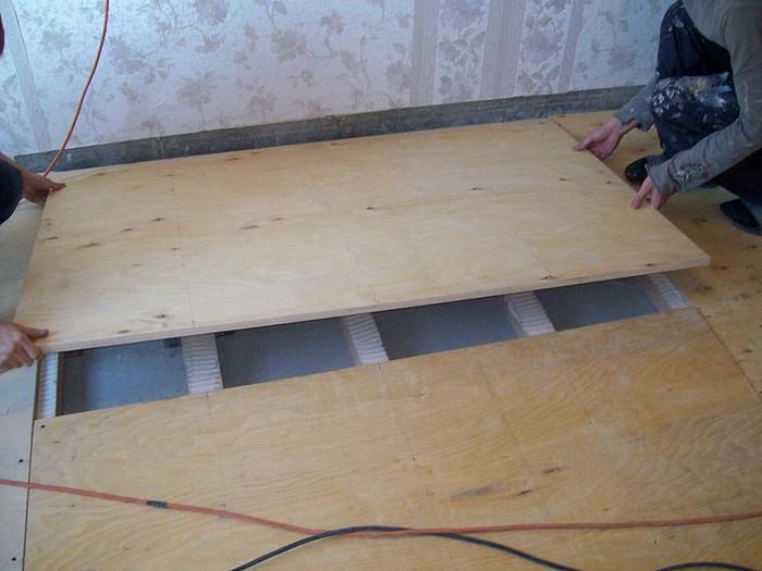 Деревянные полы из фанеры на лагах своими руками фото 111