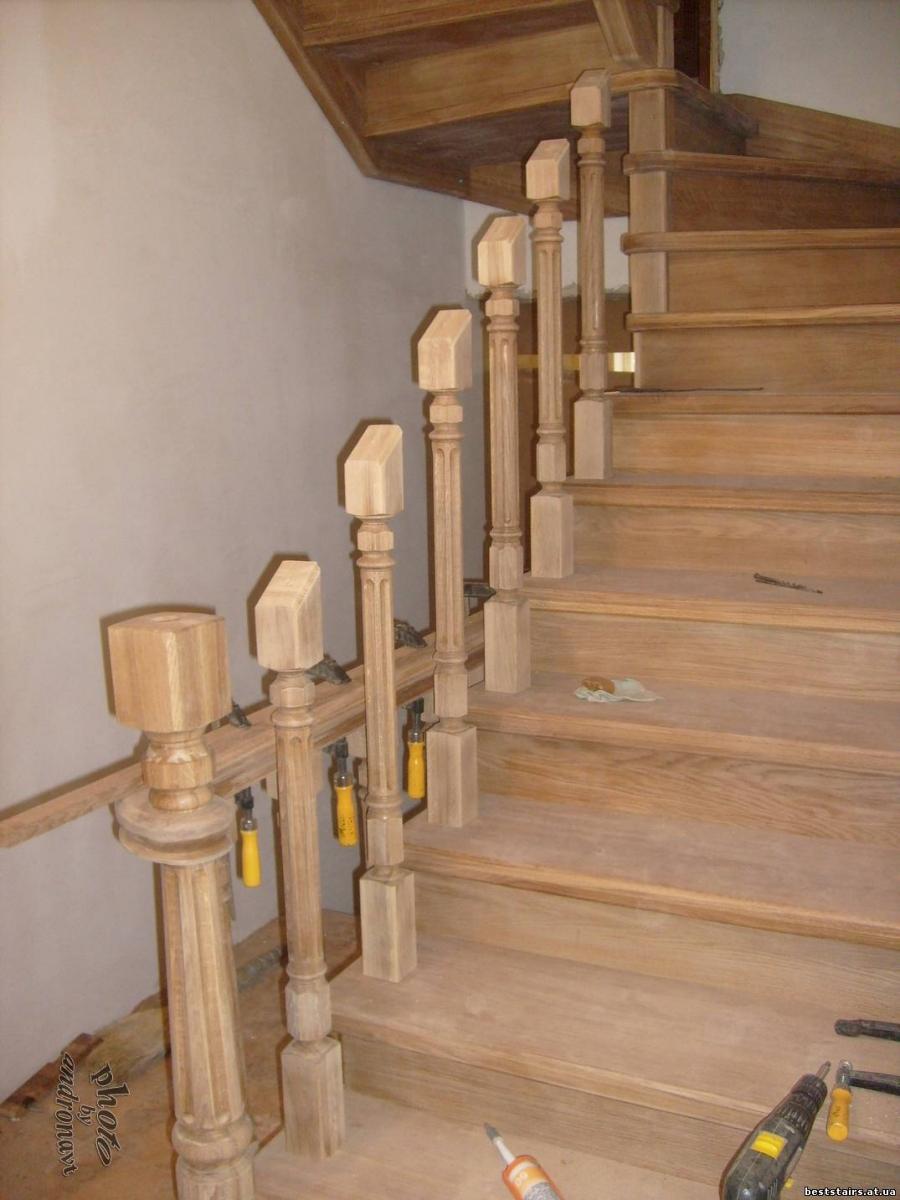 Перила для лестницы своими руками - изготовление и монтаж! 21